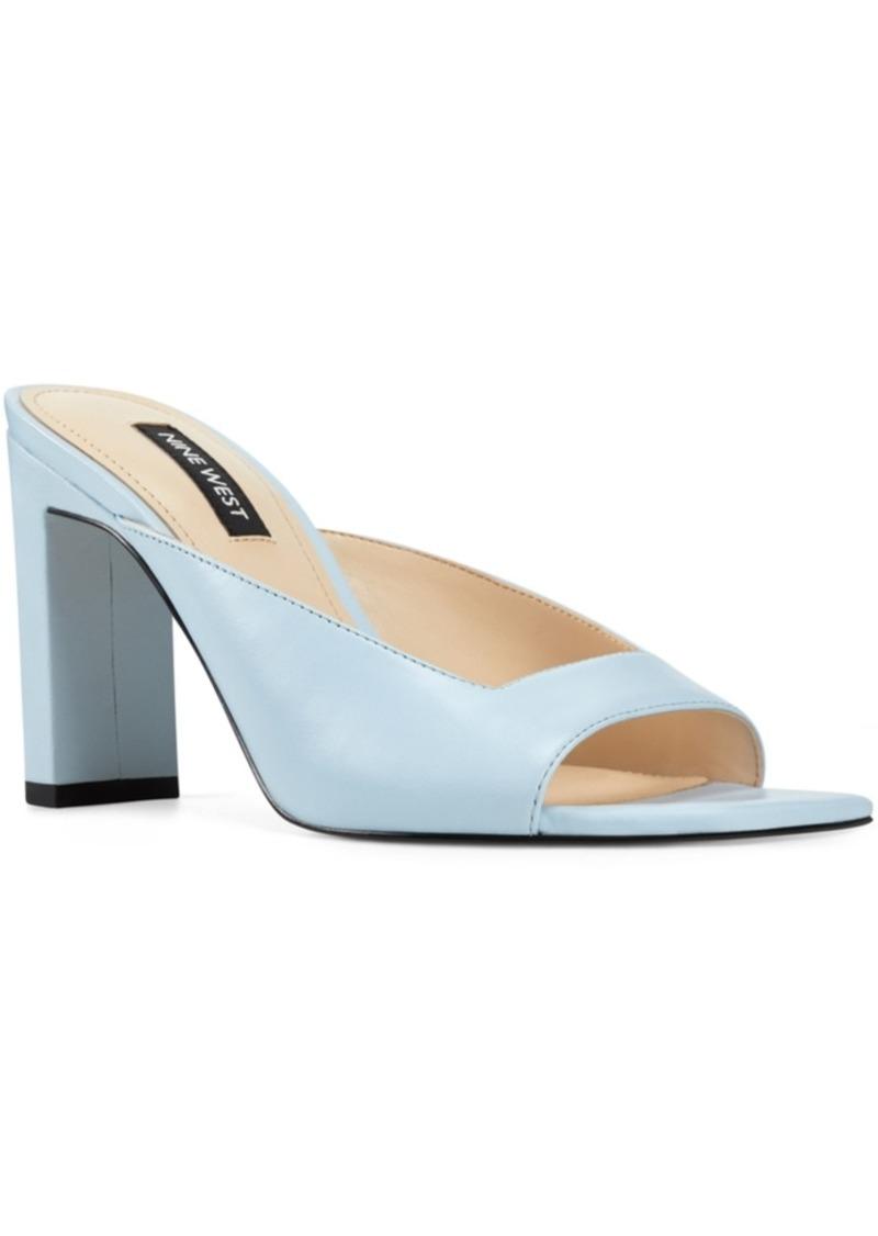 Nine West Pyper Square-Toe Mules Women's Shoes