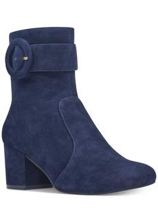 Nine West Quilby Block-Heel Booties Women's Shoes