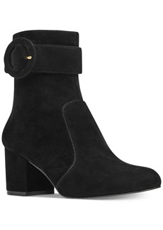 Nine West Quilby Block-Heel Booties Women's Shoes