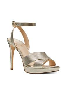 Nine West Quisha Metallic Leather Dress Sandals