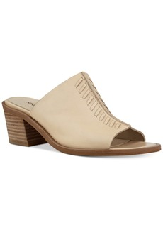 Nine West Rahina Stitched Block-Heel Mules Women's Shoes