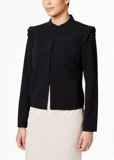 Nine West Ruffled Stand-Collar Jacket