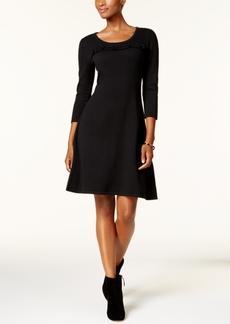 Nine West Ruffled Sweater Dress