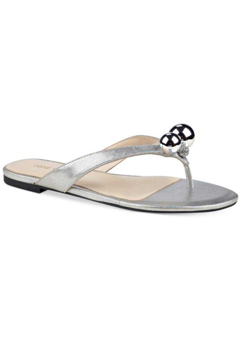 cde1ab8add1 Nine West Nine West Sanyah Pearl Thong Sandals Women s Shoes Now  20.96