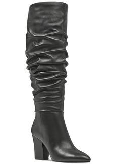 Nine West Scastien Block-Heel Boots Women's Shoes