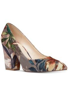 Nine West Scheila Block-Heel Pumps Women's Shoes