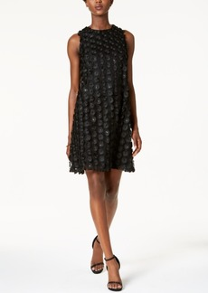 Nine West Sequined Flower Shift Dress