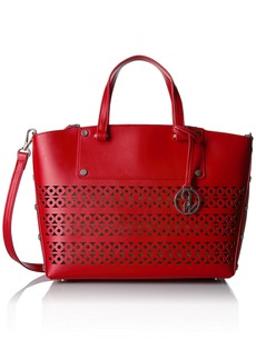 Nine West Sheer Genius Tote Small Dynasty Red-Moody Blue/Dynasty Red-Moody Blue/Dynasty Red/Dark Natural