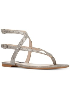 Nine West Simcha Studded Flat Sandals Women's Shoes