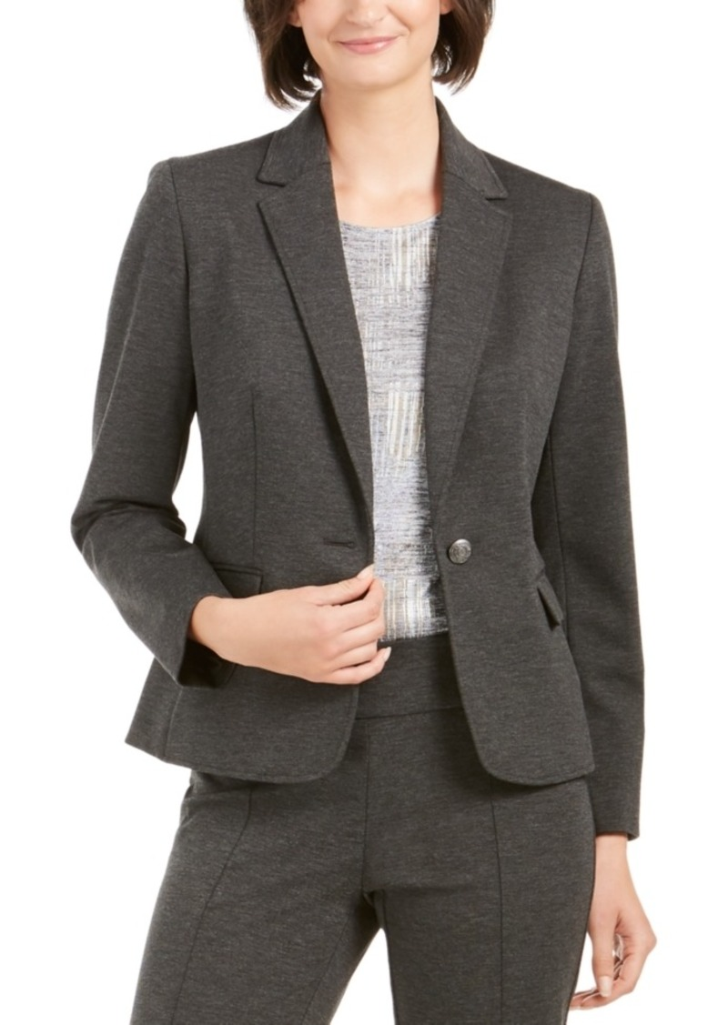 Nine West Single-Button Notched-Lapel Blazer