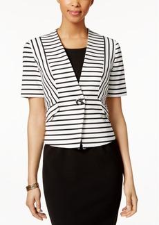 Nine West Single-Button Striped Blazer