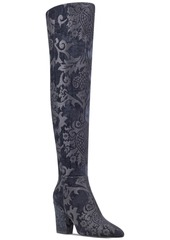 Nine West Siventa Brocade Over-The-Knee Boots Women's Shoes