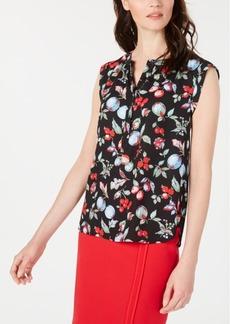 Nine West Sleeveless Floral Blouse