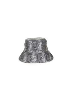 Nine West Snake-Embossed Reversible Rain Bucket Hat