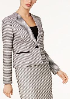 Nine West Striped Tweed Blazer