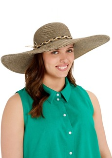 Nine West Super Floppy Hat With Braided Trim