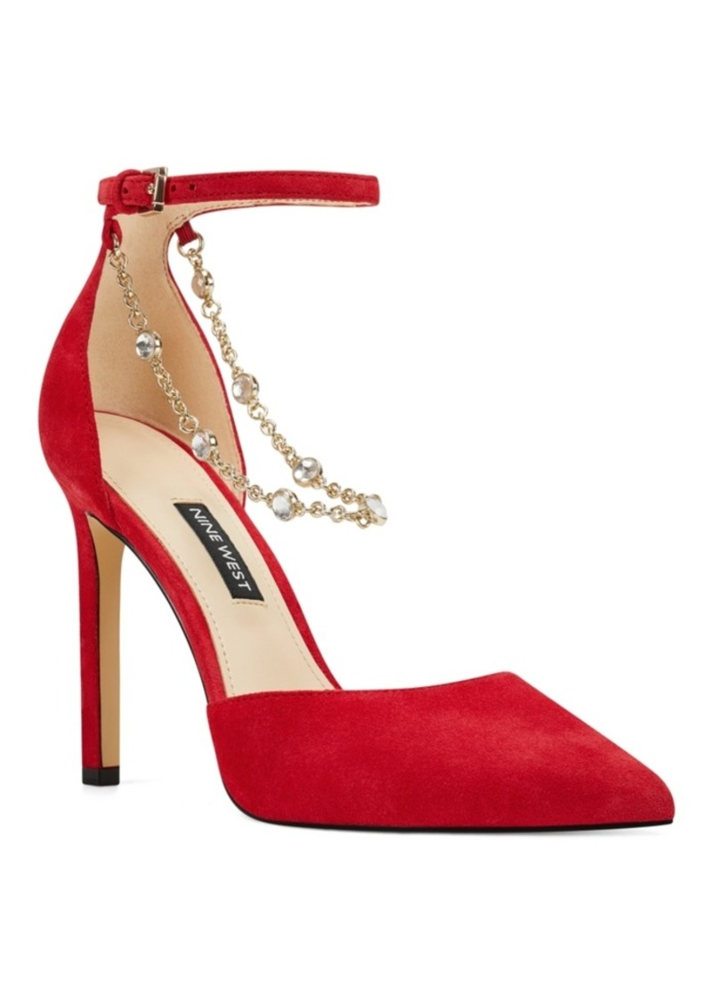 Nine West Talula Two-Piece Chained Pumps Women's Shoes