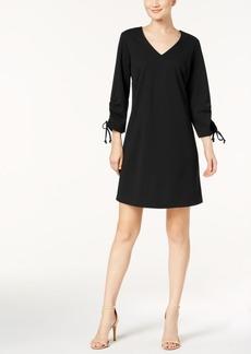 Nine West Tie-Sleeve Shift Dress