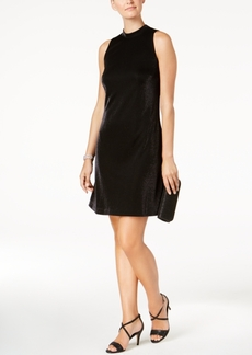 Nine West Tied Mock-Neck Metallic Dress