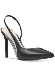 Nine West Toffee Vinyl Slingback Pumps Women's Shoes