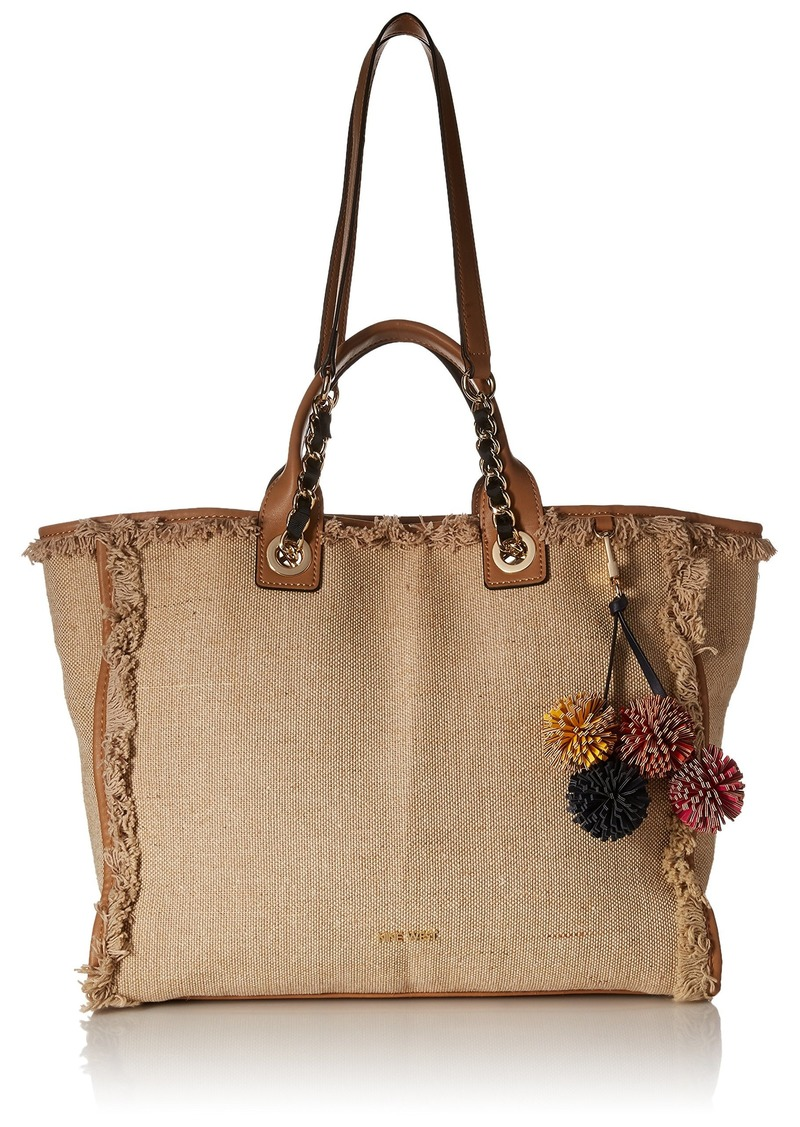 Nine West Trixie Tote with Pouch Two-Tone Dark Camel/Natural
