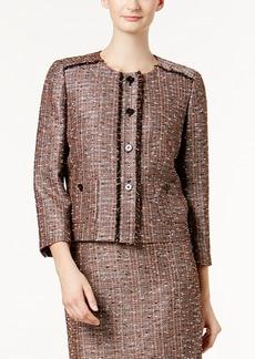 Nine West Tweed 3/4-Sleeve Blazer
