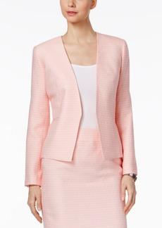 Nine West Tweed Open-Front Blazer