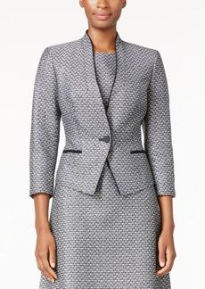 Nine West Two-Tone Tweed Blazer