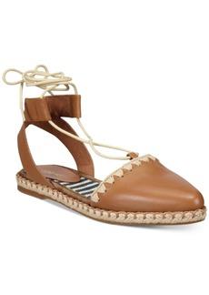 Nine West Unah Two-Piece Lace-Up Platform Espradrille Flats Women's Shoes