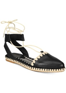Nine West Unah Two-Piece Lace-Up Platform Espradrille Flats Women's Shoes