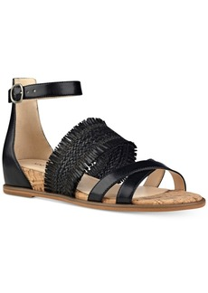 Nine West Vernell Three-Piece Wedge Sandals Women's Shoes