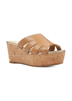 Nine West Victoria Cutout Wedge Slide Sandal (Women)