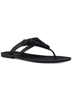 Nine West Vlora Floral Thong Sandals Women's Shoes