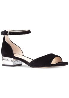 Nine West Volor Two-Piece Block-Heel Sandals Women's Shoes
