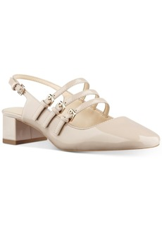 Nine West Weirley Pointed Block-Heel Pumps Women's Shoes