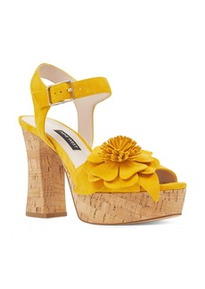 Nine West Winflower Flower Platform Sandal (Women)