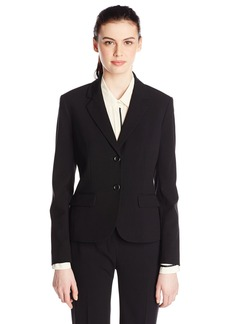 Nine West Women's 2 Button Bi Stretch Notch Suit Jacket