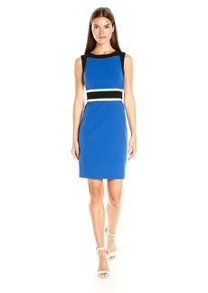 Nine West Women's 3 Combo Colorblock Dress with Waistband