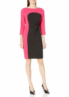 NINE WEST Women's 3/ Sleeve Colorblock Dress
