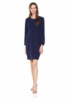 Nine West Women's 3/ Sleeve Dart Body Dress