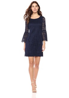 Nine West Women's 3/4 Bell Sleeve T-Shirt Dress