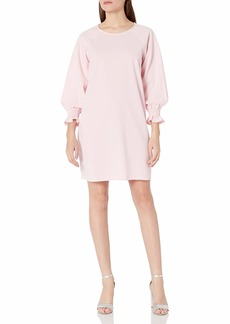 NINE WEST Women's 3/4 Crepe with Smocking at Sleeve  S