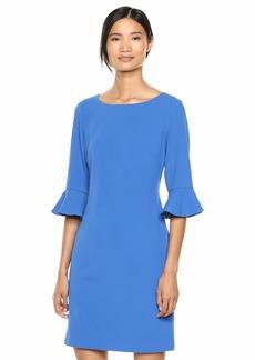Nine West Women's 3/ Ruffle Sleeve A-Line Dress