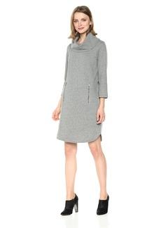 Nine West Women's 3/4 Sleeve Cowl Neck Dress  M