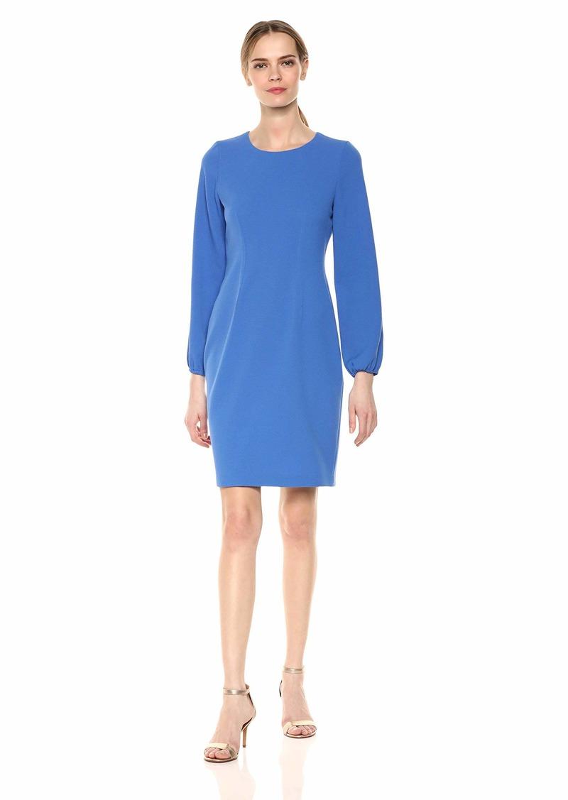 Nine West Women's 3/4 Sleeve Dart Body Dress
