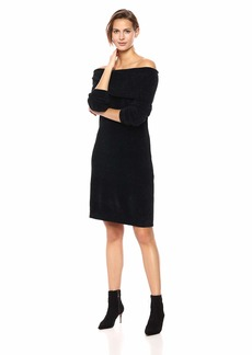 Nine West Women's 3/4 Sleeve Off The Shoulder Sweater Dress  L