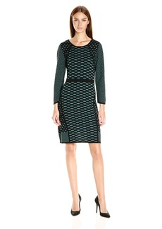 Nine West Women's 3/4 Slv a-Line Multi Seam Dress  S
