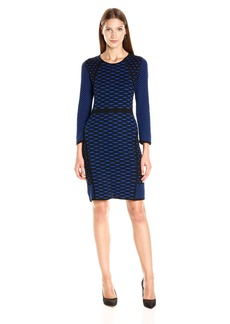 Nine West Women's 3/4 Slv A-Line Seam Dress  XS
