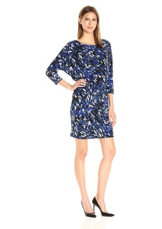 Nine West Women's 3/4 Slv Dolman Blouson Dress