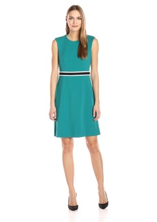 Nine West Women's a-Line Dress with Trim At Waistband